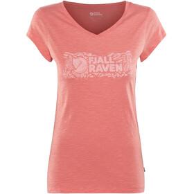 Fjällräven Logo Stamp T-Shirt Women peach pink